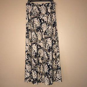 Blue & Cream Floral Skirt